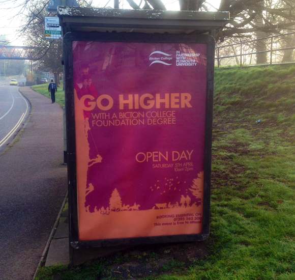 Bicton-short-course-guide-Bus-shelter-poster
