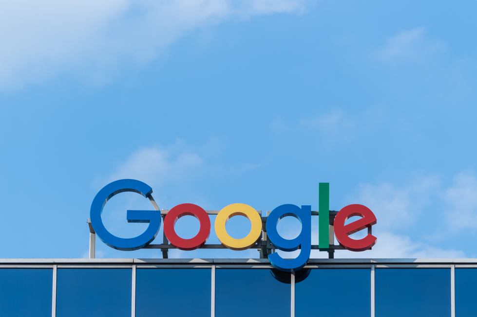 Google logo on top of building