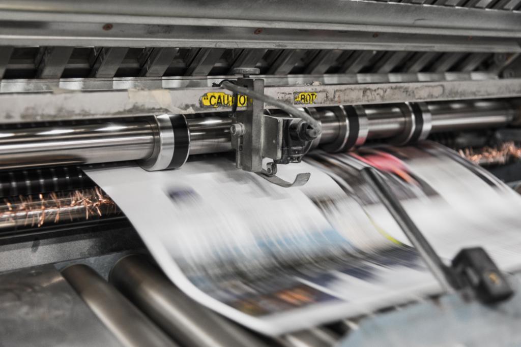 Printing press running