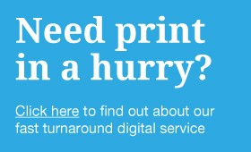 Fast turnaround digital printing…