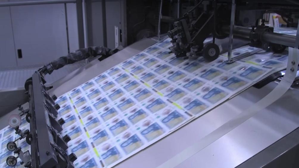 Printer producing money