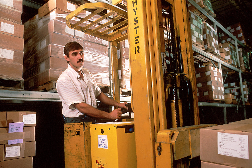 Man working in a warehouse