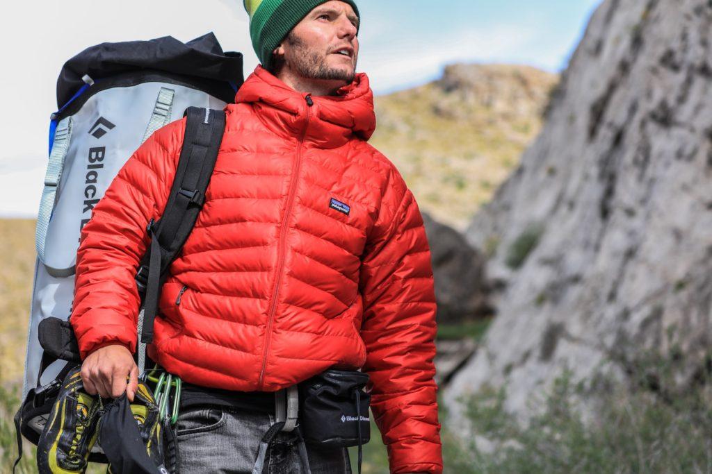 Man wearing Patagonia coat