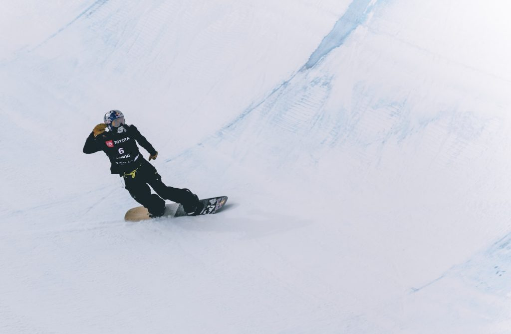 Person on a snowboard